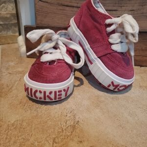 Disney Pink Mickey Mouse Toddler Shoes size 5